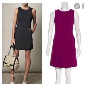 dvf carpreena twill purple dress